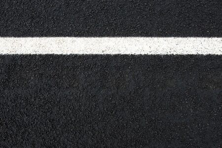 Road and white road marking (horizontal) with text space seen from above