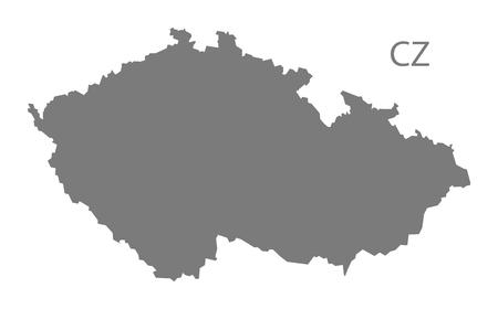 the czech republic: Czech Republic map in gray