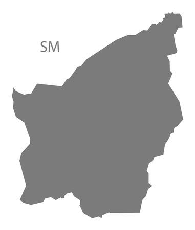 san marino: San Marino map in gray Illustration