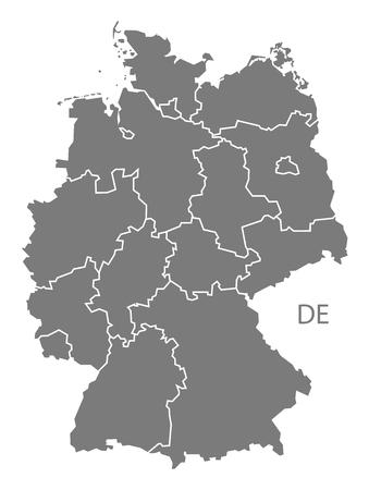 deutschland karte: Deutschland-Karte in grau