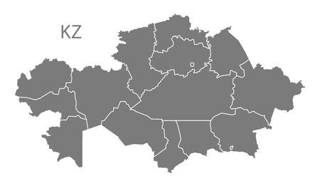 kazakhstan: Kazakhstan map in gray