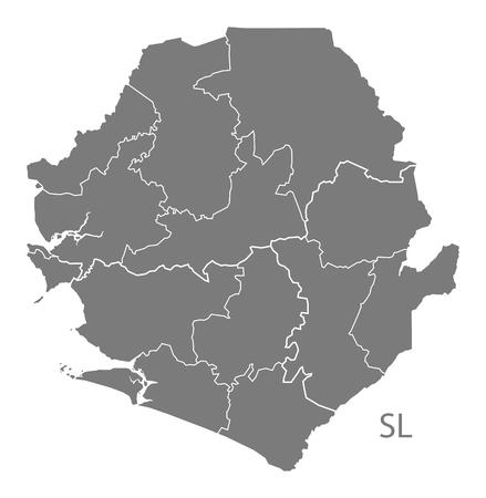 sierra leone: Sierra Leone map in gray