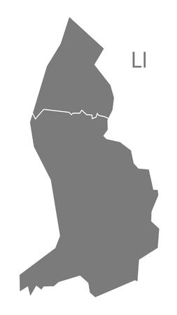 灰色でリヒテンシュタインのマップ  イラスト・ベクター素材