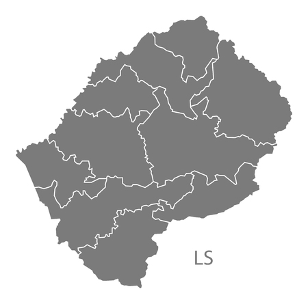 lesotho: Lesotho map in gray Illustration