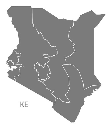 kenya: Kenya map in gray