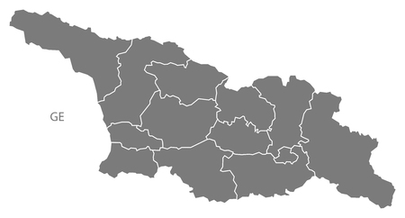 georgia: Georgia map in gray Illustration