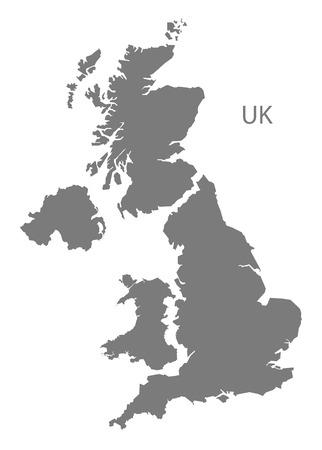 kingdom: United Kingdom map in gray
