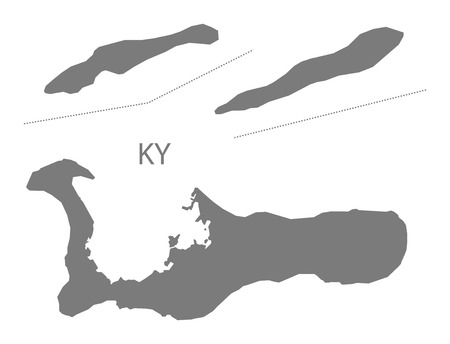 cayman islands: Cayman Islands map in gray Illustration