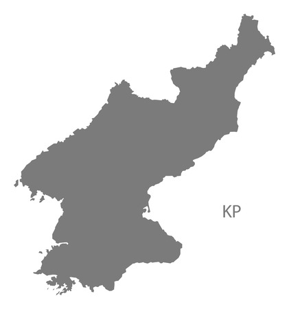 North Korea Map In Gray Royalty Free Cliparts, Vectors, And Stock ...