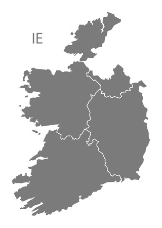 ireland map: Ireland map in gray Illustration
