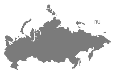 russia map: Russia map in gray Illustration