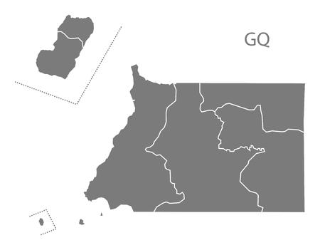equatorial guinea: Equatorial Guinea map in gray