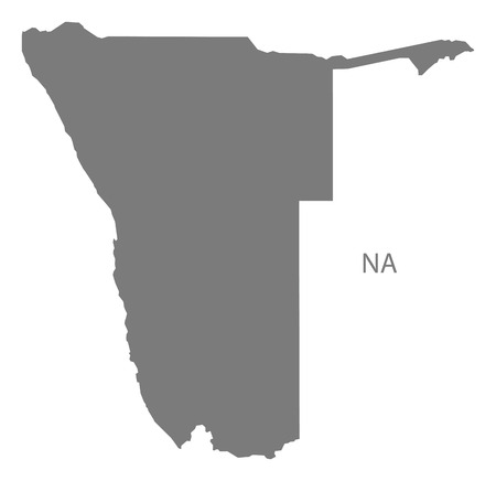 namibia: Namibia map in gray