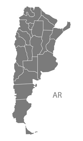 argentina map: Argentina map in gray Illustration
