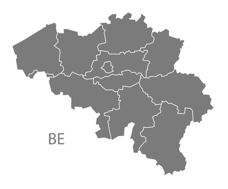 belgium: Belgium map in gray