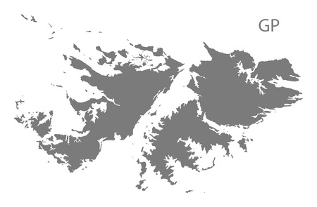 falkland: Falkland Islands map in gray