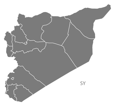 Syria: Syria map in gray