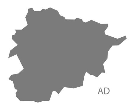 andorra: Andorra map in gray