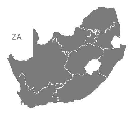 south africa map: South Africa map in gray