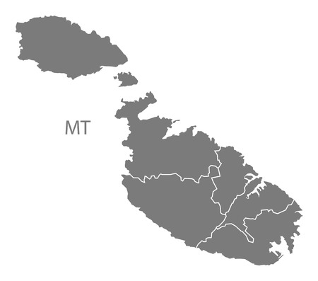 malta: Malta map in gray