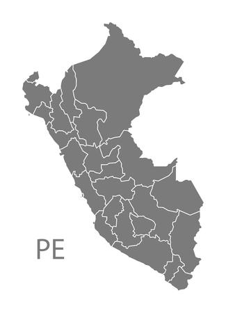 mapa del peru: Mapa del Perú en gris