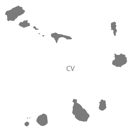 Cape Verde map in gray