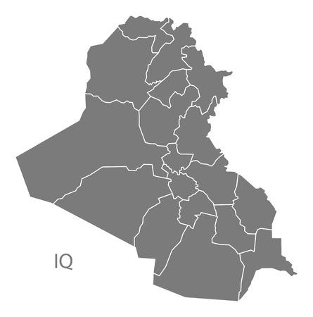 iraq: Iraq map in gray
