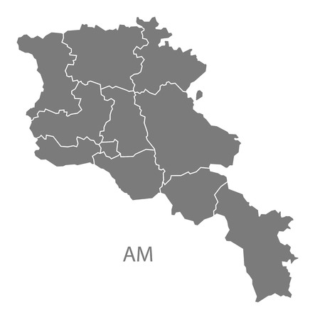 map of armenia: Armenia map in gray