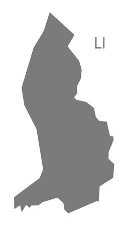 liechtenstein: Liechtenstein map in gray