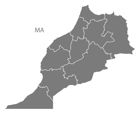 morocco: Morocco map in gray