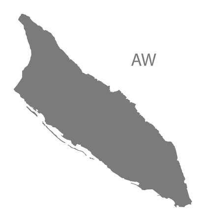 aruba: Aruba map in gray