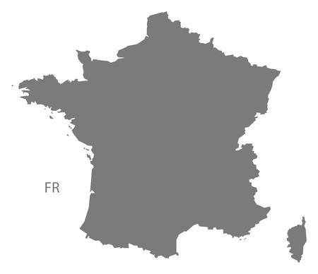 France map in gray Illustration