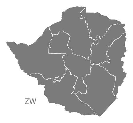 zimbabwe: Mapa de Zimbabwe en gris Vectores