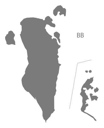 bahrain: Bahrain map gray