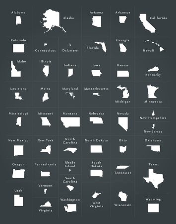 federal states: USA all federal states overview