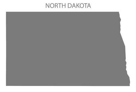 North Dakota USA Map in grey