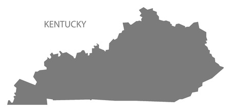 kentucky: Kentucky USA Map in grey