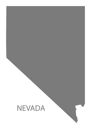 nevada: Nevada USA Map in grey Illustration