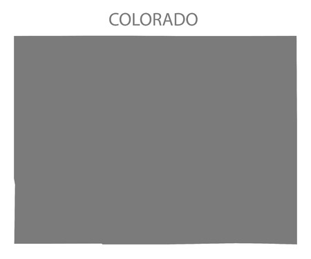 Colorado USA Map in grey Illusztráció