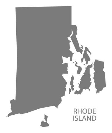 Rhode Island USA Map in grijs