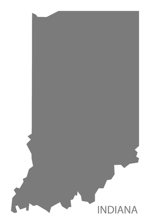 indiana: Indiana USA Map in grey