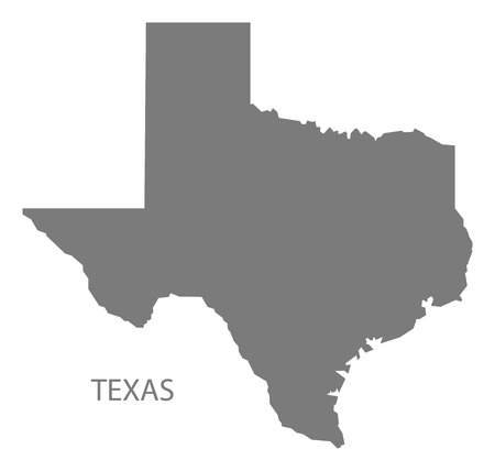 Texas USA Map in grey