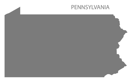 pennsylvania: Pennsylvania USA Map in grey