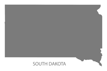 South Dakota USA Map in grigio Archivio Fotografico - 60709973