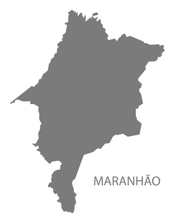 gray: Maranhao Brazil map gray