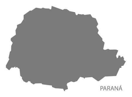brazil map: Parana Brazil map gray