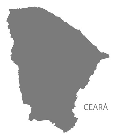gray: Ceara Brazil map gray