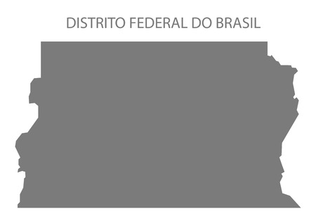district': District of Brazil map gray Illustration