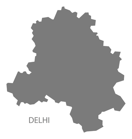 gray: Delhi India map gray