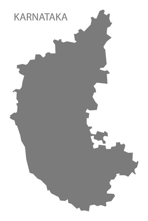 gray: Karnataka India map gray